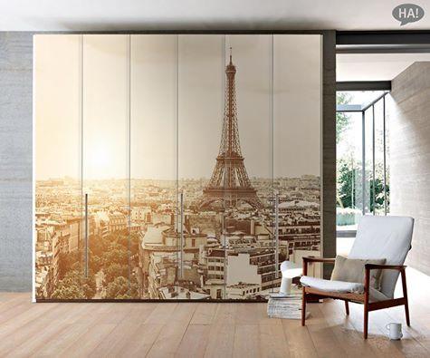 Μια Ντουλάπα που σε ταξιδεύει!  Αυτοκόλλητο Ντουλάπας: http://www.houseart.gr/select_use.php?id=293&pid=11606  #houseart #closet #sticker #paris #france #romantic #bedroom