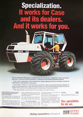 Off the 7 major tractor manufacturers in 1970s this 2870 would make case the 2nd outfit to get 300hp 4WD tractor to market