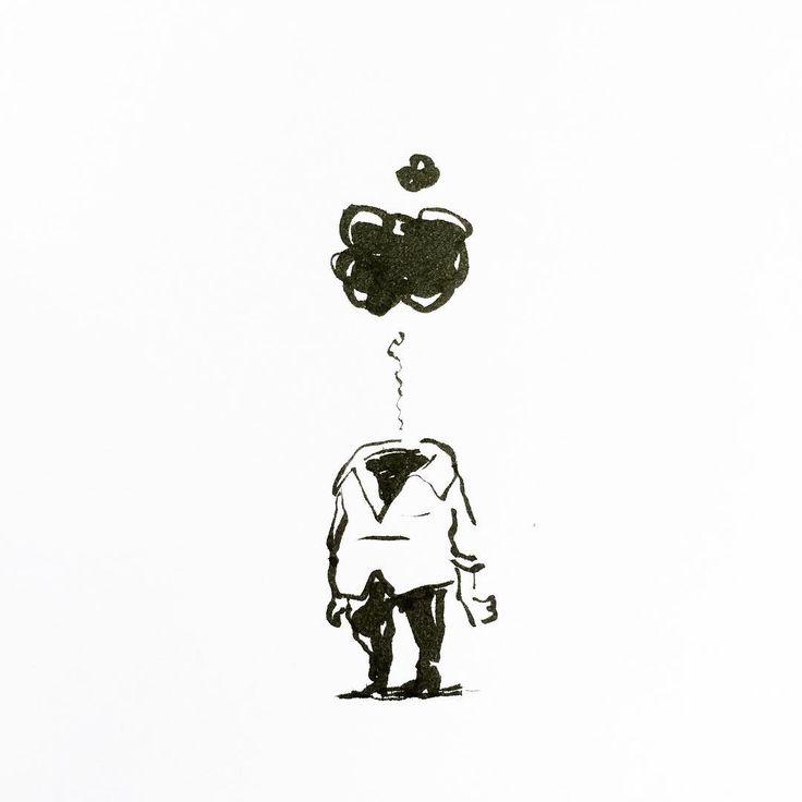 Pouf! by Jon Skraentskov Ink on paper 2016 #illustration