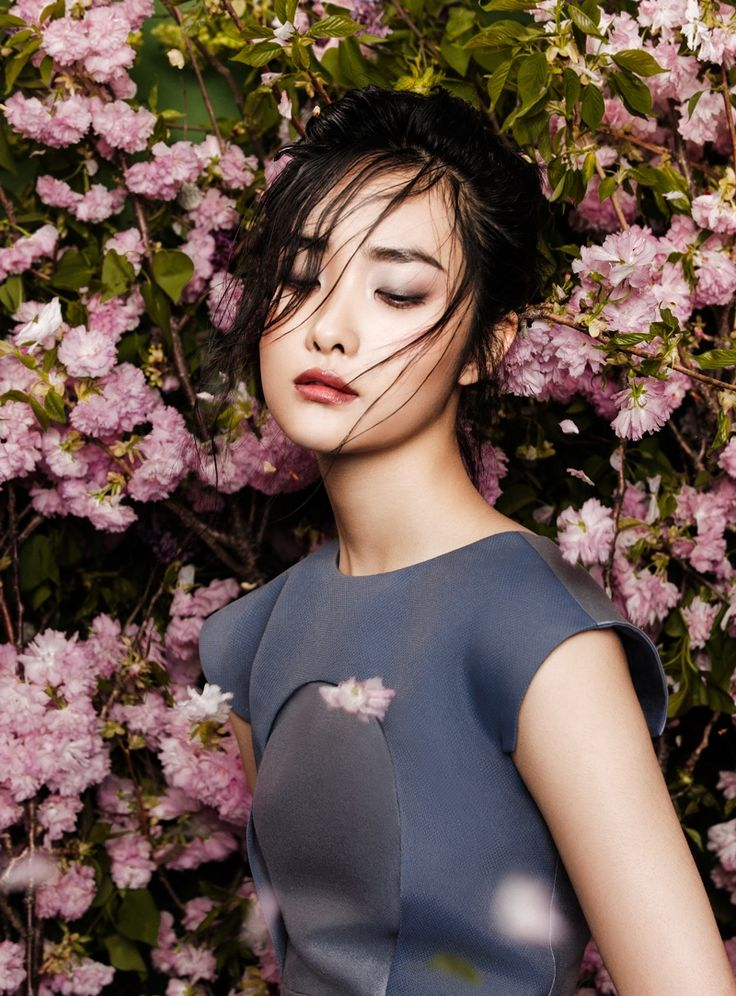 FGR Exclusive   Kwak Ji Young by Zhang Jingna in Flowers Bloom