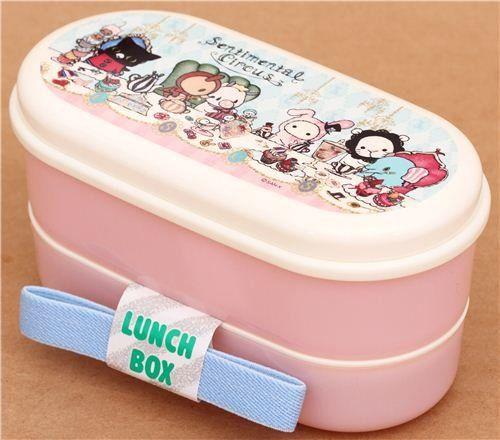 Fiambrera rosa caja bento Sentimental Circus té de la tarde