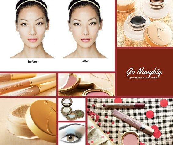 In the mood voor verleiding? Verras je liefste met Valentijn met de nieuwe lentemake-up looks van Jane Iredale. Kies 's avonds voor de Naughty look. Copy the look.#janeIredale #makeover #makeup