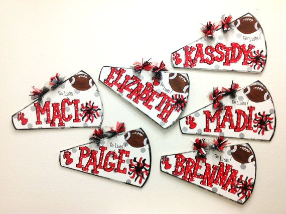 Megaphone personalized cheer by TWOPINKDOTS on Etsy, $18.00