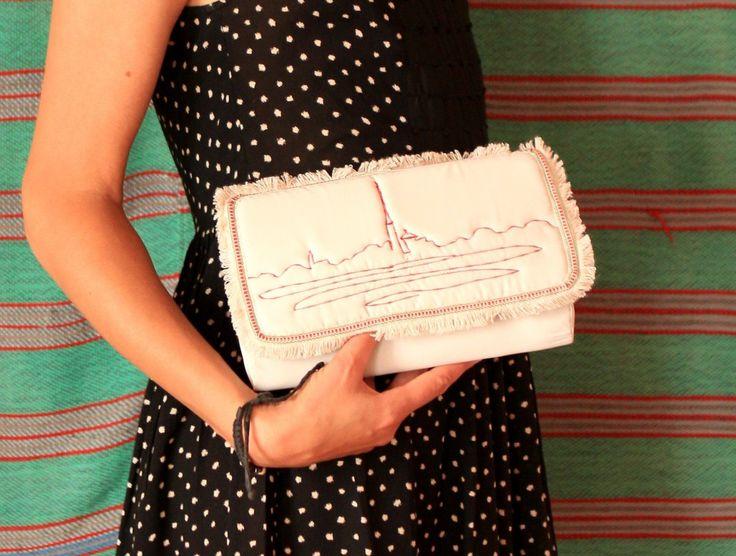 Купить Клатч белый с эскизом спб. Cделать на заказ. Магазин рукоделия Крафтбург | арт.:3795