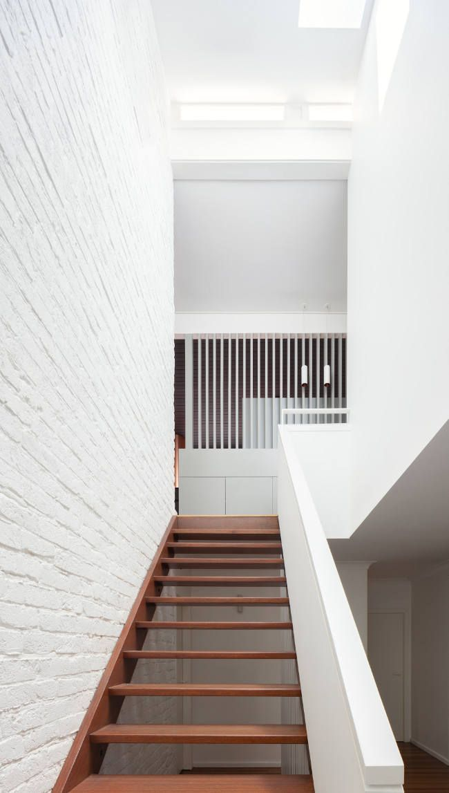 mid century modern architecture and staircase