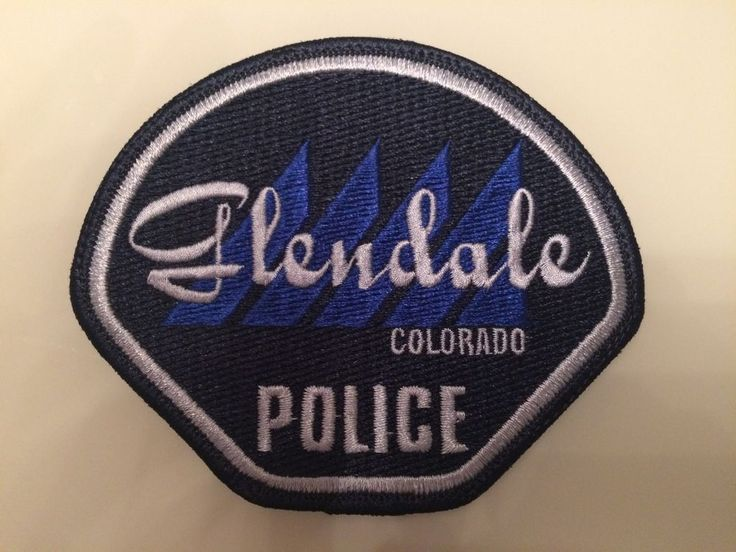 Patch Glendale Police Department Colorado Shoulder Flash New Original Rarity