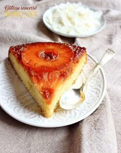 Gâteau renversé ananas noix de coco #gateau #recette #ananas