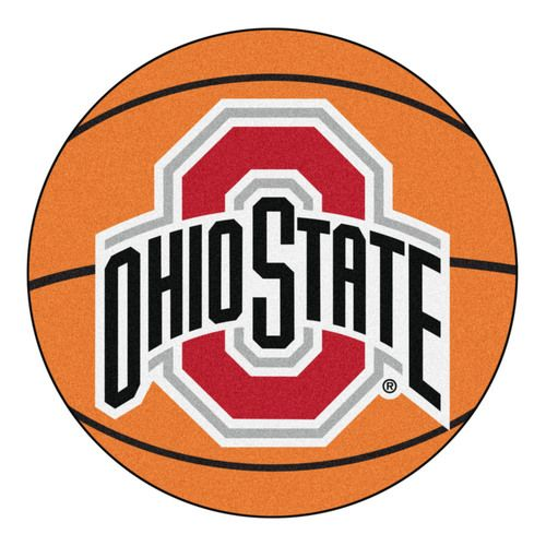 "Ohio State Buckeyes 27"""" Basketball Shaped Area Rug Floor Mat"