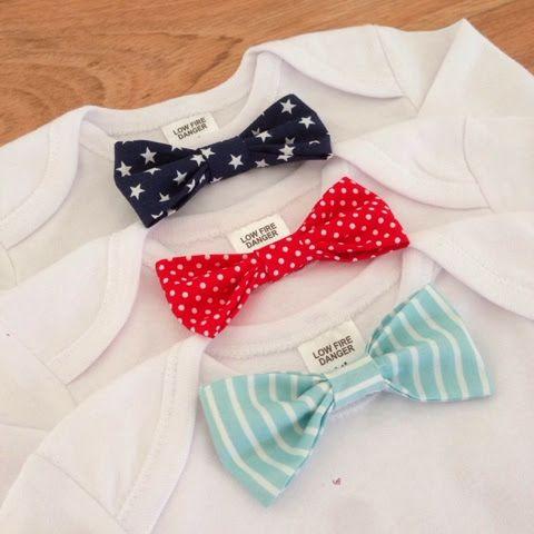 DIY No-Sew Baby Bow Tie Onesie | projectpeanut.com.au