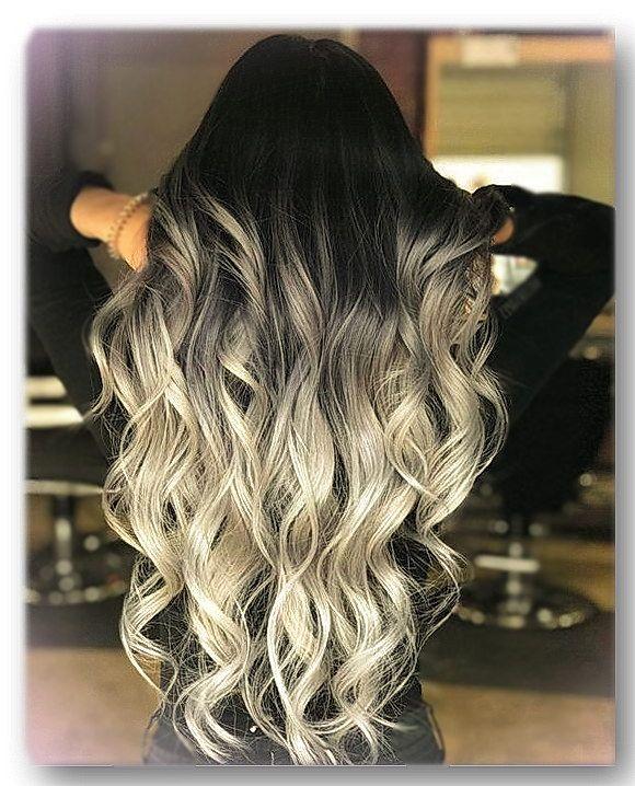 Hair color ombre - babylights grey - модное окрашивание (покраска) длинных  волос омбре d53d94b10154b