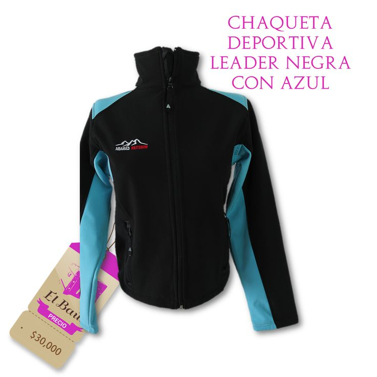 Chaqueta deportiva Leader negra con azul  $30,000  http://elbaul.co/Productos/512/Chaqueta-deportiva-Leader-negra-con-azul--