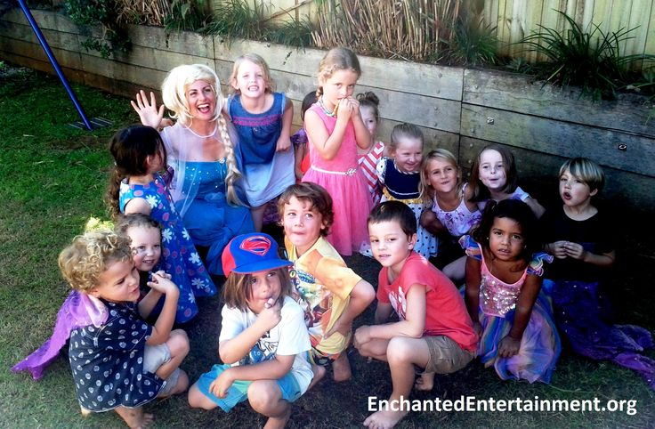 Elsa and the kids are having an amazing time! Character parties, face painting, dance parties & more, by EnchantedEntertainment.org , Entertaining children across Northern NSW and the Gold Coast, Australia