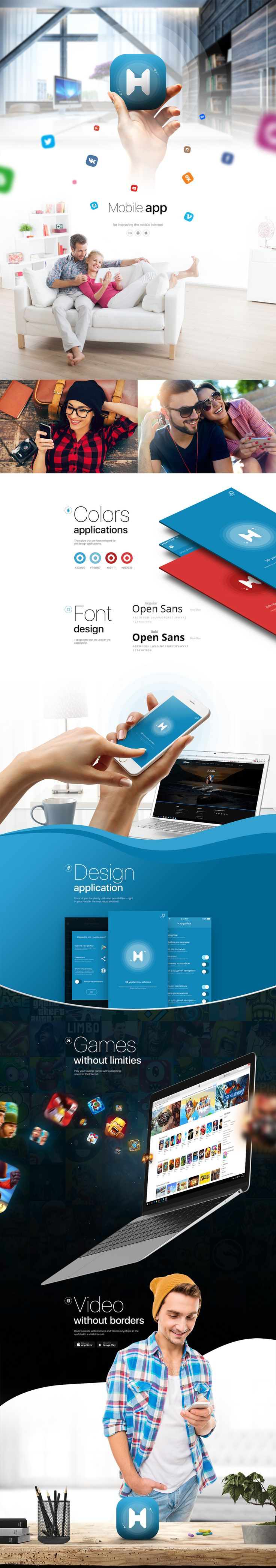 http://themeforest.net/item/appsworld-apps-landing-psd- on Behance