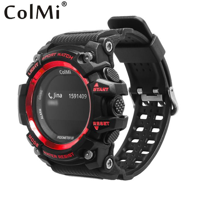 30$ ColMi Smart Sport Watch T1 OLED Display Heart Rate Monitor IP68 Waterproof Push Message Call Reminder for Android IOS Phone