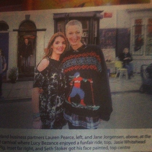 us in the local paper at our baker street christmas carnival!
