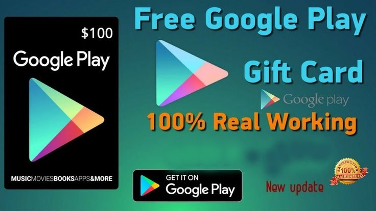 *ONLY WORKING WAY*$100 Google Play Gift Card Code*$10 ...