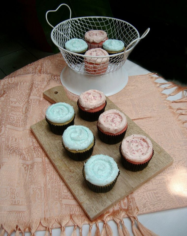 Baby Pinks and Baby Blues Mini Cupcakes