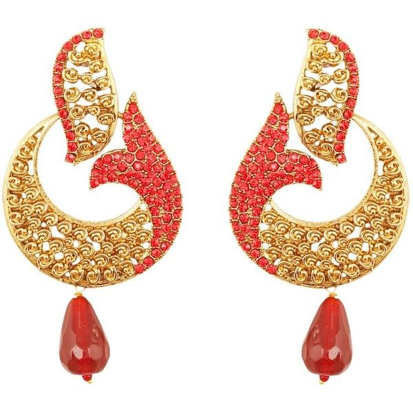 Amazon.com: NEW! Touchstone Indian Bollywood pretty curved fish motif. - Best 25+ Bridal Chandelier Earrings Ideas On Pinterest Fashion