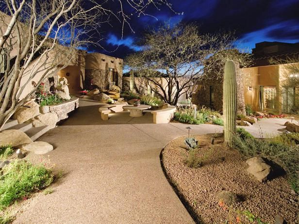 make it more of a desert environment!: Decor, Patio Idea, Outdoor Living, Backyard, Landscape Ideas, Outdoor Spaces, Desert Landscape, Desert Landscaping