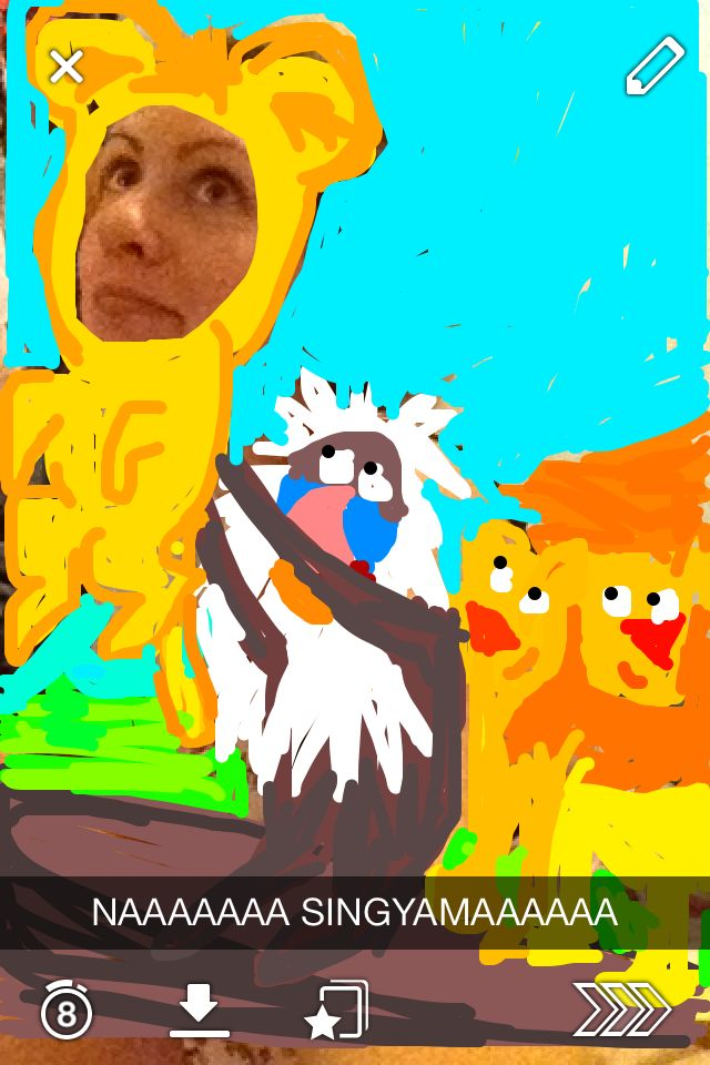Today's best snapchat photo goes to... soon to be Lion King... Simba