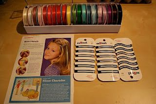 how to make ribbon barrettes for those of us who haven't made them since 1982!