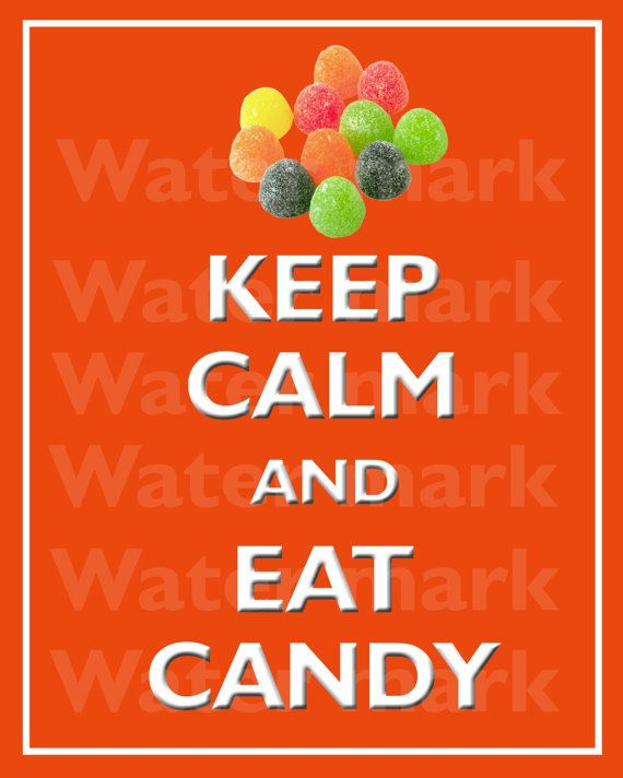 Wall art print 8x10 KEEP CALM And Eat CANDY Quote art print by PosterPrintNation, $8.99