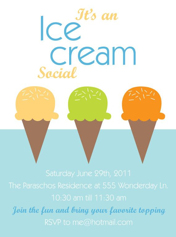 Top 25 ideas about Ice Cream Social on Pinterest | Birthday party ...