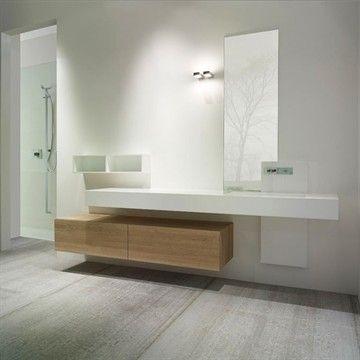 Møbler i massiv Eg m. 2 skuffer til badeværelset