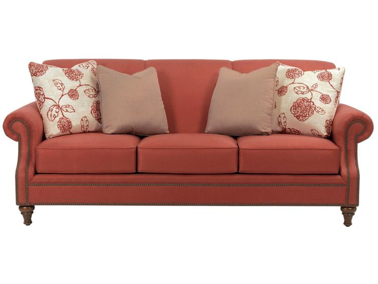 Broyhill Furniture Windsor Sofa with Rolled Arms - Becker Furniture World - Sofas