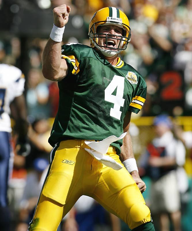 Love him or hate him, Brett Favre is the consumate football ironman.  No contest.