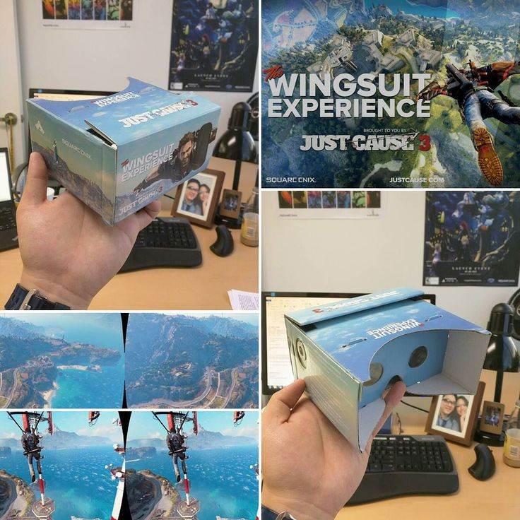 An awesome Virtual Reality pic! I won an employee contest at work and got a Google Cardboard viewer from the London team! #googlecardboard #vr #virtualreality #jc3 #justcause3 #wingsuit #wingsuitexperience #squareenix #avalanche #ricowashere by soondot check us out: http://bit.ly/1KyLetq