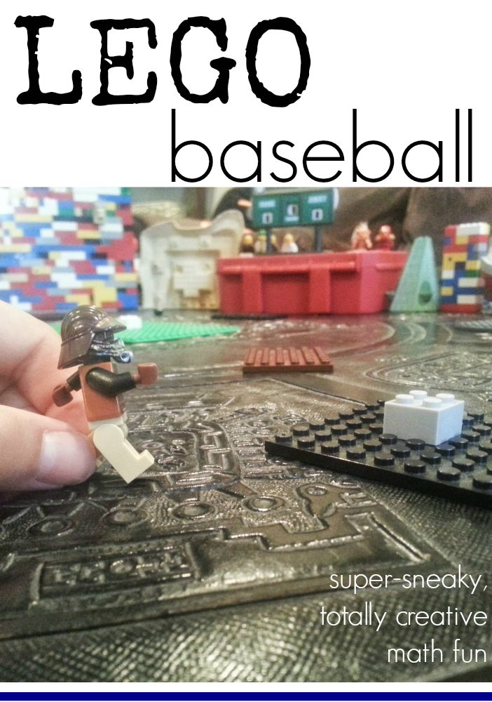 lego baseball | super sneaky totally creative math fun | guest post by @Heather Creswell Kauffman on teachmama.com #weteach