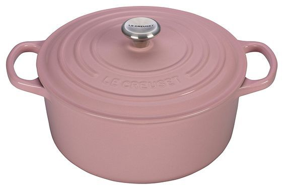 Le Creuset of America Signature Cast Iron Round Dutch Oven, 4-1/2-Quart, Hibiscus * Find out more about the great product at the image link.
