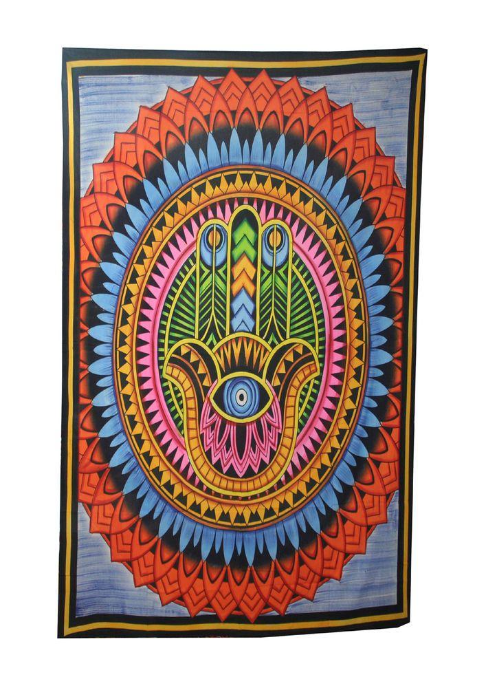 Boho Beach Mat Mandala Blanket Indian Wall Hanging Beach Tapestry Towel Yoga #Handmade #Traditional
