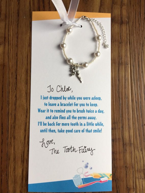 These are the sweetest little something to leave for your kids from the tooth fairy! Leave the childs name in the note to seller so the letter from the tooth fairy Canberra personalized just for them