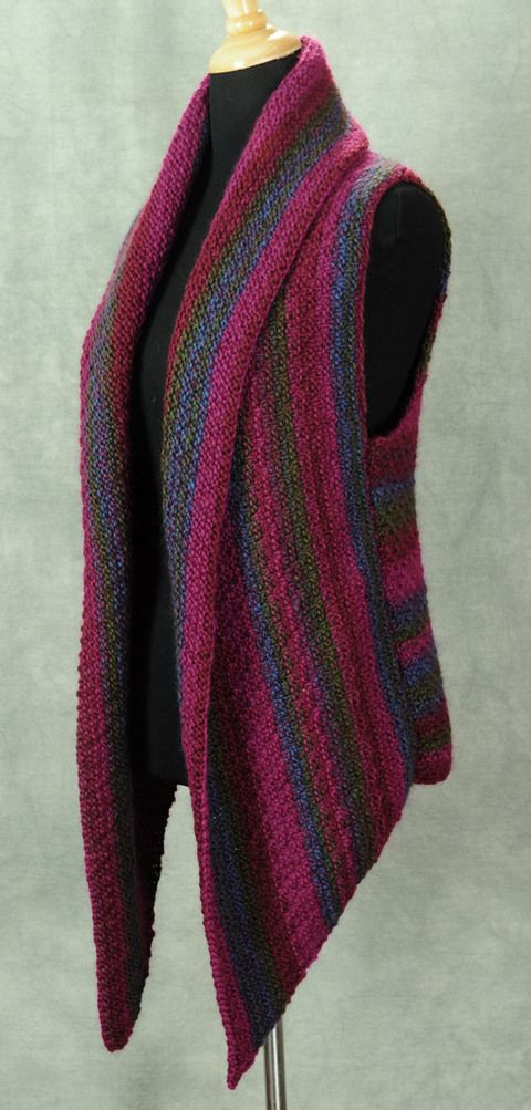 The Prudence Crowley Vest By Robin Hunter - Purchased Knitted Pattern - (patternfish)
