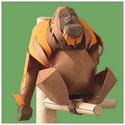 Sumatran Orang-utan - | Paper Crafts(Origami) - Entertainment | YAMAHA MOTOR CO., LTD.