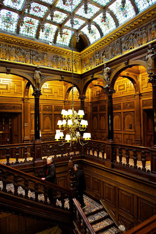 10 Hidden Sights in London, England #theeverygirl 2 Temple Place, William Waldorf Astor (founder of the Waldorf Astoria), at the time the richest man in the world, built the house as an estate office and vault for his belongings. To visit the house you need to time it right as it's only open to the public three months out of the year to display a changing exhibition. Fun fact: This is also where they filmed the wedding in the season finale of Downton Abbey.