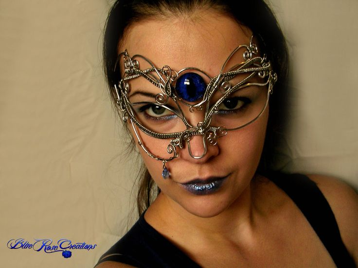 Masquerade Mask - Wire Wrapped Dragon Eye Tear 2 by LadyPirotessa.deviantart.com on @deviantART
