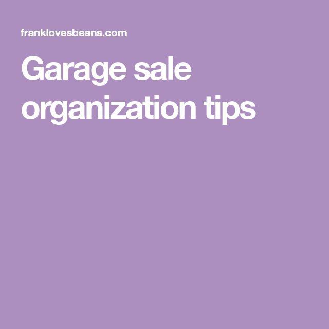 Garage sale organization tips