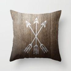 3 Cross Arrows Throw Pillow