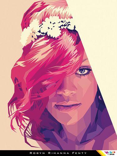 RIHANNA in WPAP (Wedha's Pop Art Portrait)