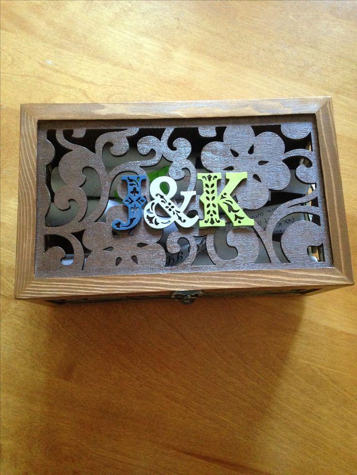 Boîte à Messages de nos invités à notre mariage fait par mon témoin Ma Soeur! C'est magnifique!