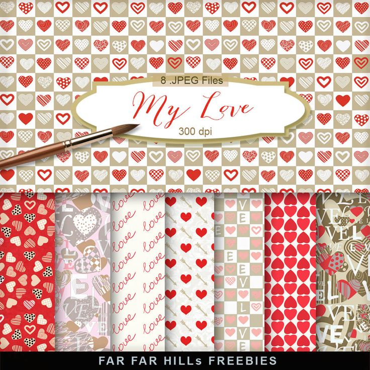 New Freebies Romantic Kit - My Love:Far Far Hill - Free database of digital illustrations and papers