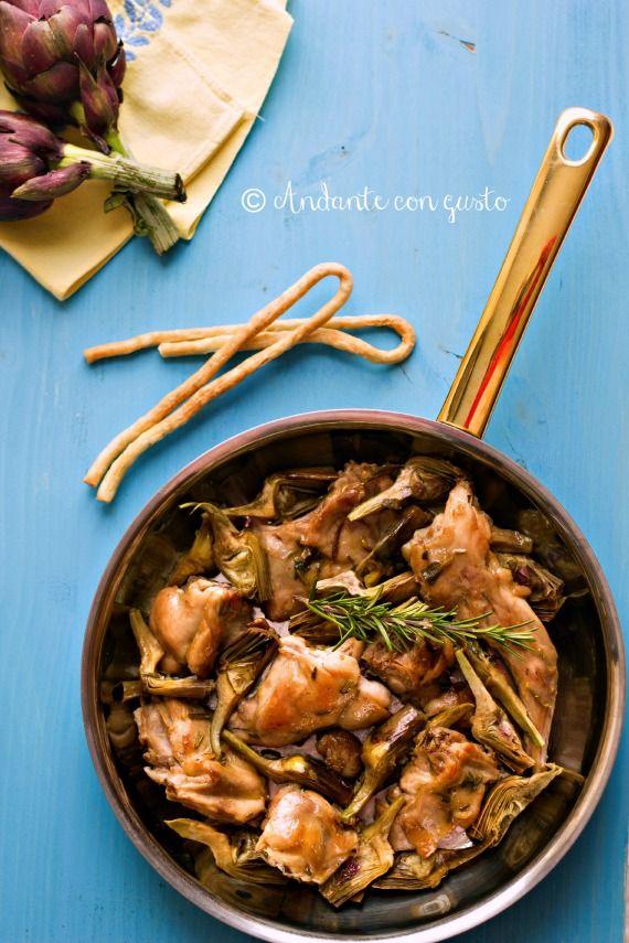 Andante con gusto: Coniglio in Carciofaia per la Settimana della Cucina di Pasqua, Calendario del Cibo Italiano