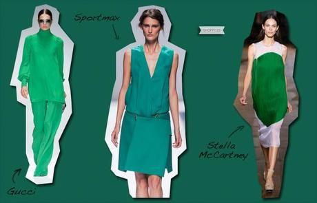 verde smeraldo vestiti gucci stella mccartney tendenze moda primavera