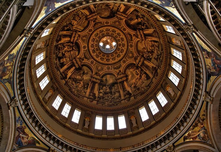 The painted dome of St. Paul's Cathedral