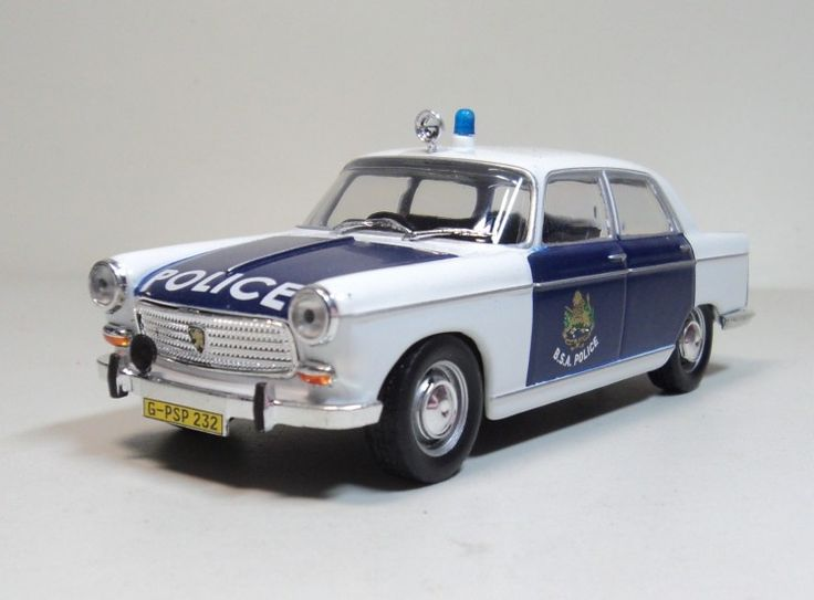 1:43 PEUGEOT 404 British South Africa Police (B.S.A.POLICE) Die-cast car models Zimbabwe Republic Police car