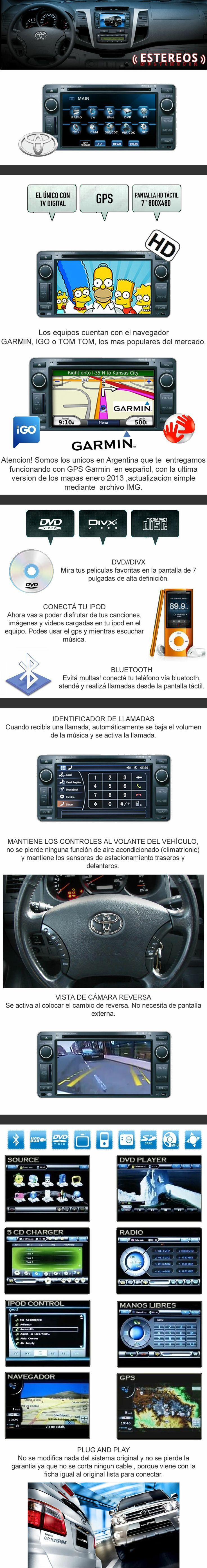 stereo toyota Sw4 Hilux Rav4