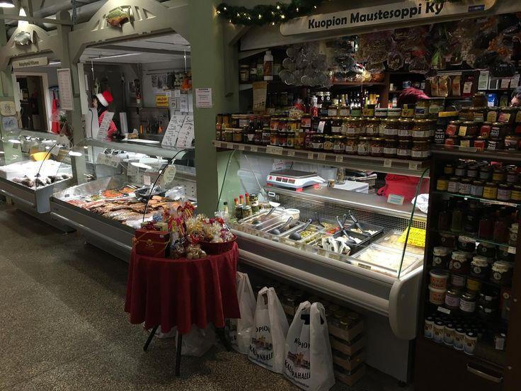 Maustesoppi spice shop at Kuopio market hall in December 2015.